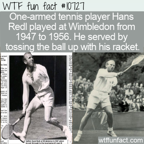 WTF Fun Fact - One-armed Tennis