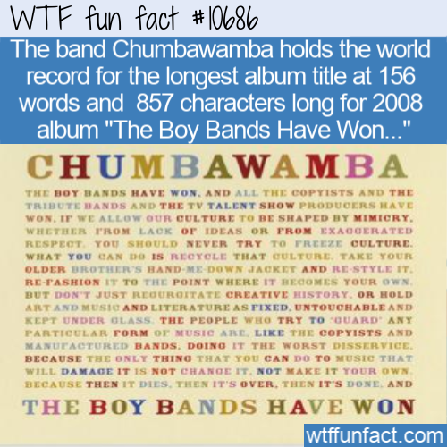 WTF Fun Fact - The Boy Bands Have Won
