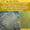WTF Fun Fact – US Airport Numbers