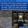 WTF Fun Fact – Cincinnati Subway