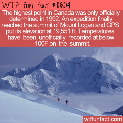 WTF Fun Fact - Canada's Highest Point