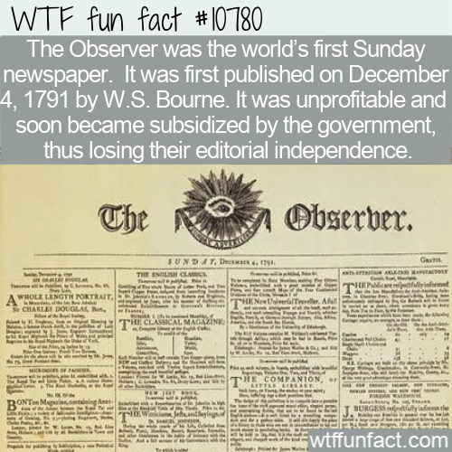 WTF Fun Fact - History Of 'Observer'