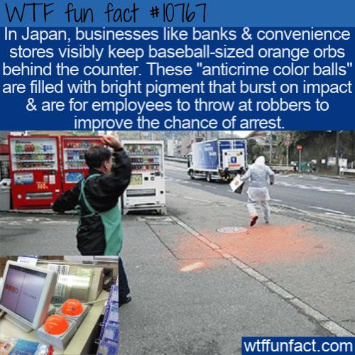 WTF Fun Fact - Anti-crime balls