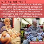 WTF Fun Fact - James Christopher Harrison