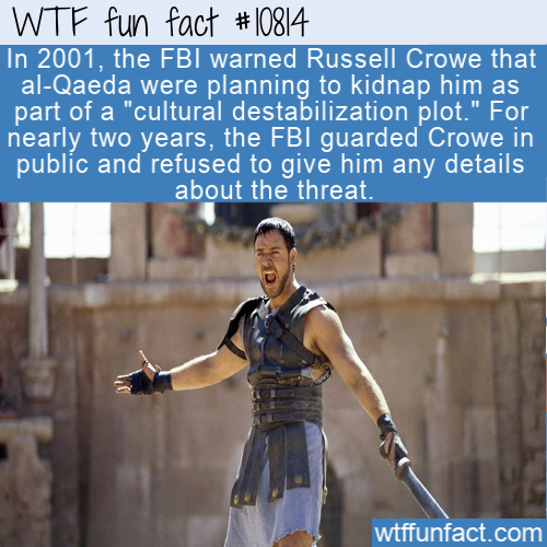 WTF Fun Fact - Russell Crowe FBI