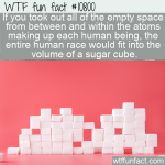 WTF Fun Fact - Space Between Atoms