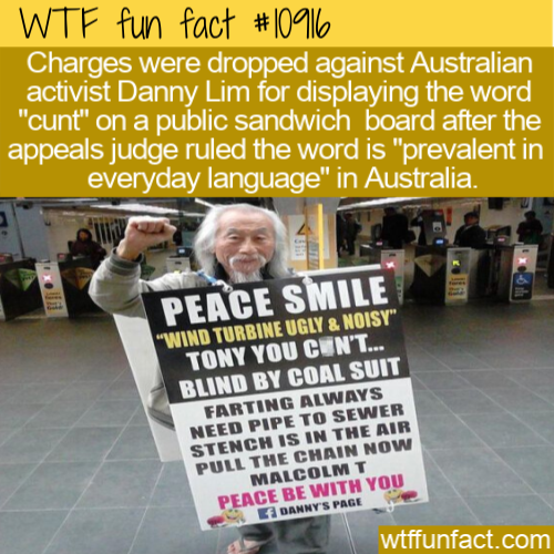 WTF Fun Fact - Australian Cunt Billboard
