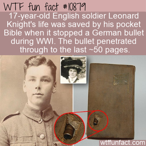 WTF Fun Fact - Bible Save Soldier