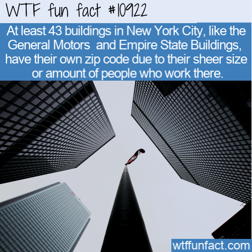 WTF Fun Fact - Buildings With Their Own Zip Code