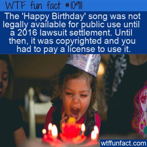 WTF Fun Fact - Happy Birthday Copyright