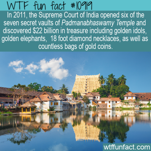 WTF Fun Fact - India padmanabhaswamy temple