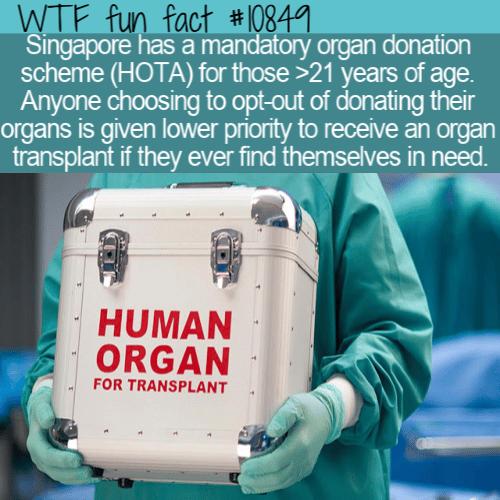 WTF Fun Fact - Organ Donation