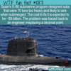 WTF Fun Fact – Overweight Submarine