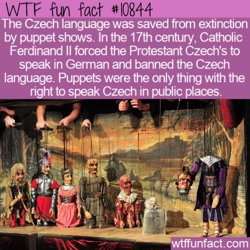 WTF Fun Fact - Puppets Save Czech Language