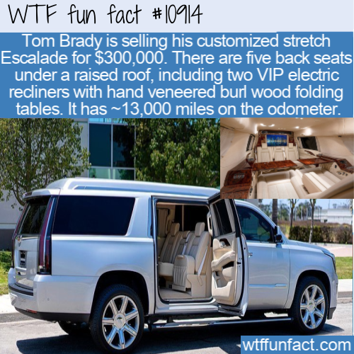 WTF Fun Fact - Tom Brady's Escalade