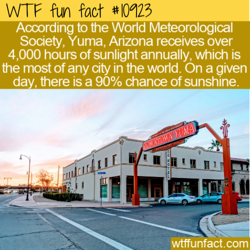 WTF Fun Fact - Yuma Sunniest Place