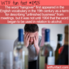 WTF Fun Fact – Hangover Origin
