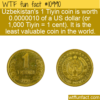 WTF Fun Fact – Least Valuable Coin In The World