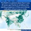 WTF Fun Fact – A Greener Earth
