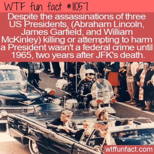 WTF Fun Fact - Assassination Federal Crime