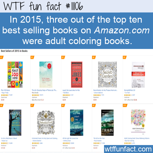 WTF Fun Fact - Best Selling Adult Coloring Books