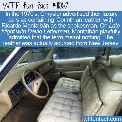 WTF Fun Fact - Chrysler's Corinthian Leather
