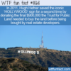 WTF Fun Fact – Donation To Save HOLLYWOOD