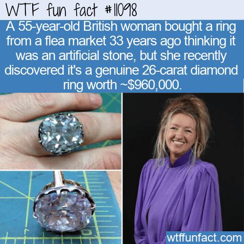 WTF Fun Fact - Genuine 26 Carat Diamond Ring