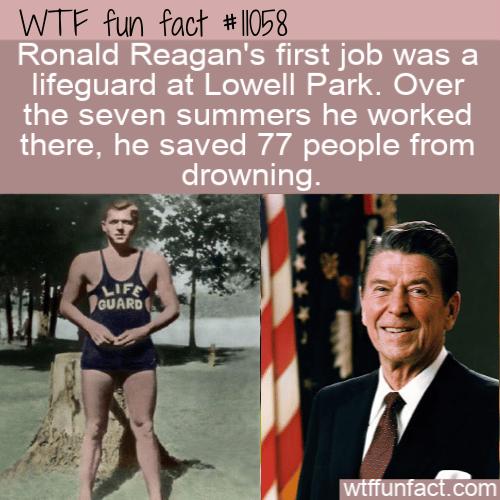 WTF Fun Fact - Lifeguard Ronald Reagan