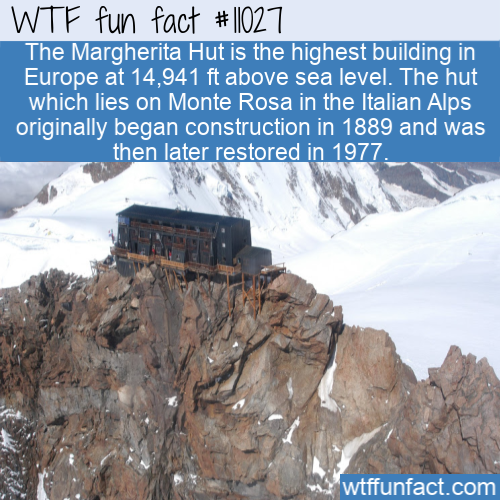 WTF Fun Fact - Margherita Hut Highest Building In Europe