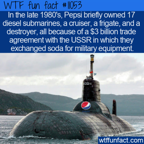 WTF Fun Fact - Military Power Of Pepsi