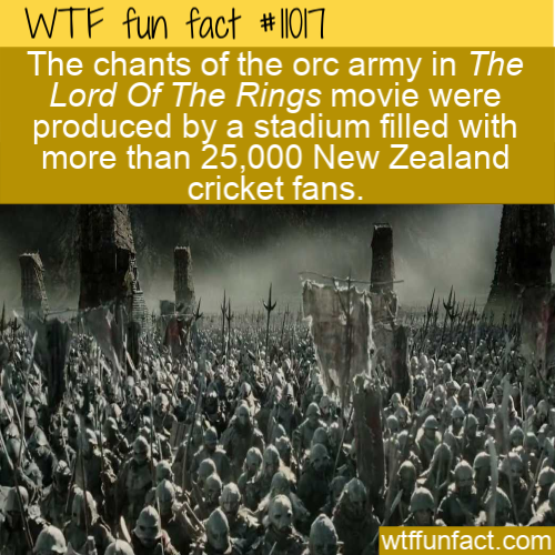 WTF Fun Fact - Orc Army Cricket Fans