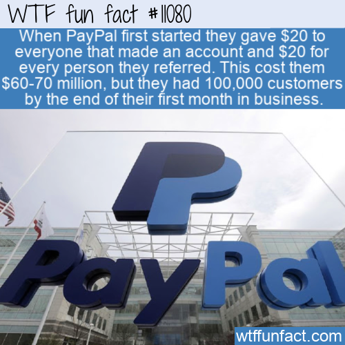 WTF Fun Fact - PayPal Bought 100000 Customers