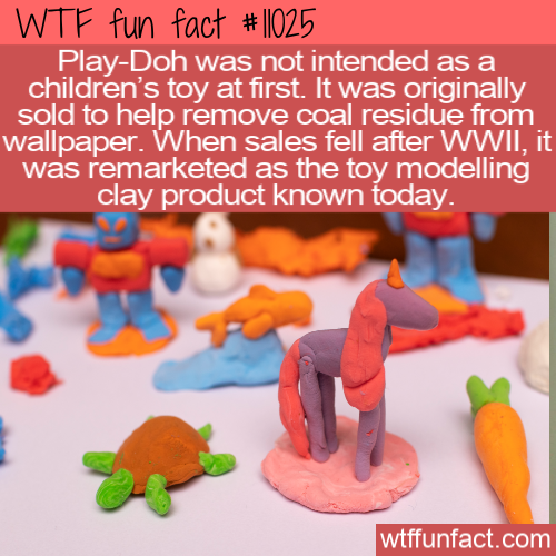 WTF Fun Fact - Play-doh Wallpaper Cleaner