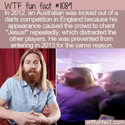 WTF Fun Fact - The Jesus Of Darts