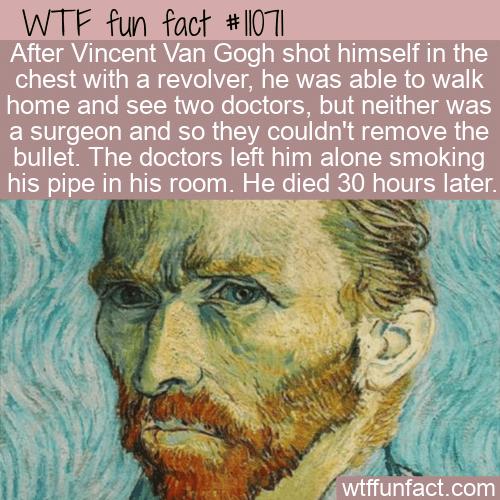 WTF Fun Fact - Vincent Van Gogh's Death