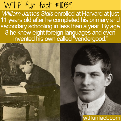 WTF Fun Fact - William James Sidis