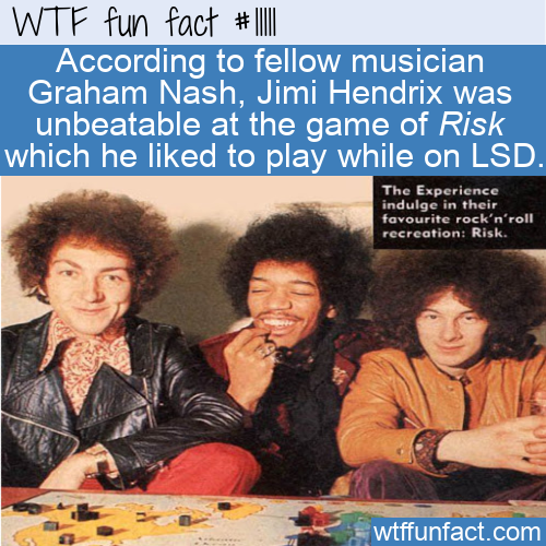 WTF Fun Fact - Jimi Hendrix Unbeatable At Risk