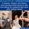 WTF Fun Fact – Laws Prevent Changing Name When Married