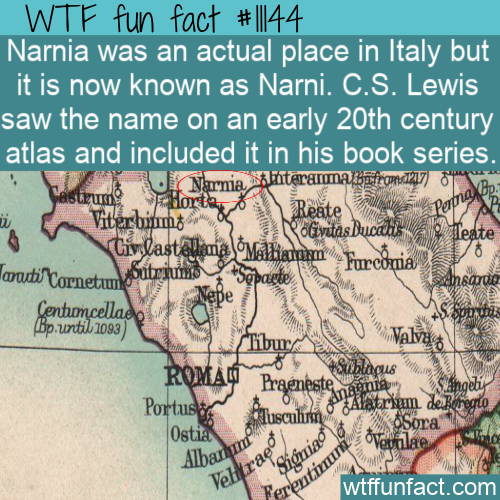 WTF Fun Fact - Narnia Is A Real Place