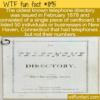 WTF Fun Fact – Oldest Telephone Directory