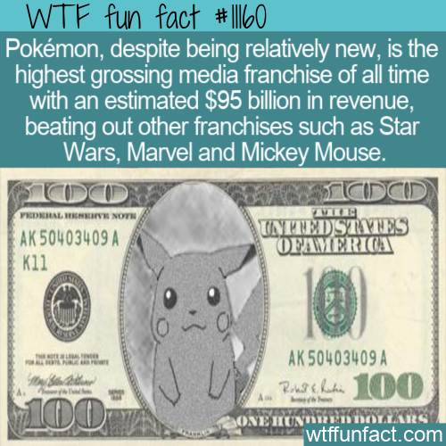 WTF Fun Fact - Pokemon Franchise