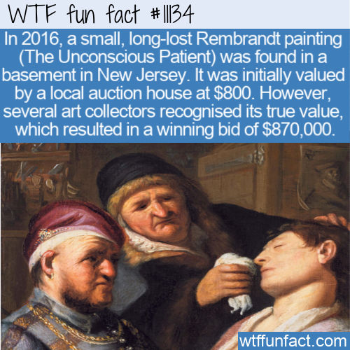 WTF Fun Fact - Rembrandt In New Jersey Basement