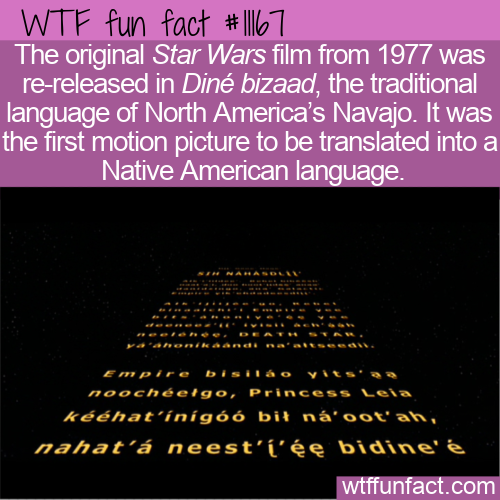 WTF Fun Fact - Star Wars In Navajo