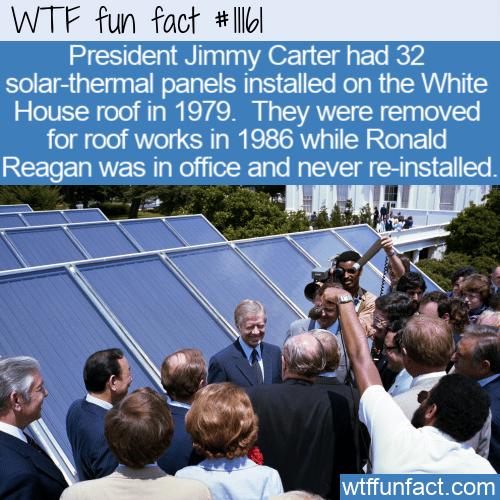 WTF Fun Fact - White House Solar Panels
