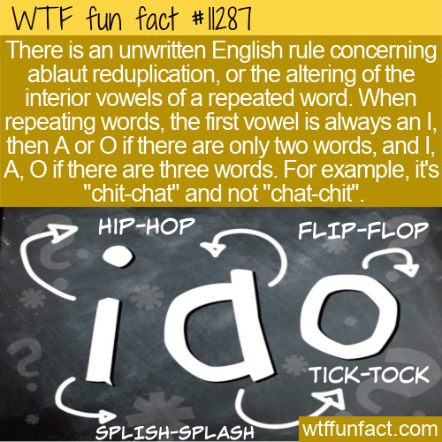 WTF Fun Fact - Ablaut Reduplication