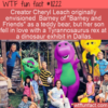 WTF Fun Fact – Barney The Friendly Teddy Bear