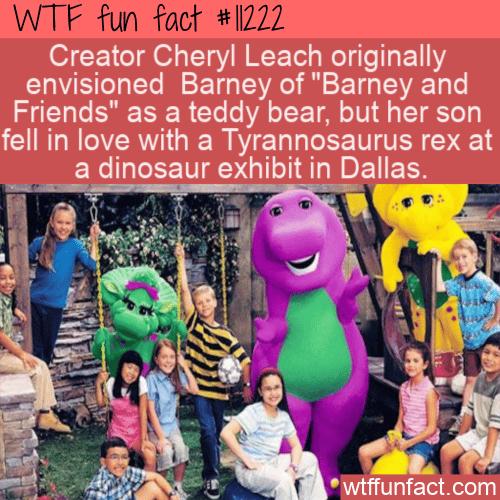 WTF Fun Fact - Barney The Friendly Teddy Bear