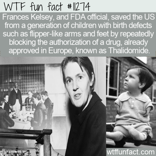 WTF Fun Fact - FDA Official Frances Kelsey Vs Thalidomide