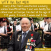 WTF Fun Fact – Harry John Patch
